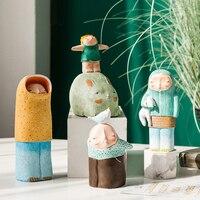 수 지 소년 홈 장식 어린이 침실 카페 사무실 성격 데스크탑 공예 장식품 어린이 크리스마스 생일 선물