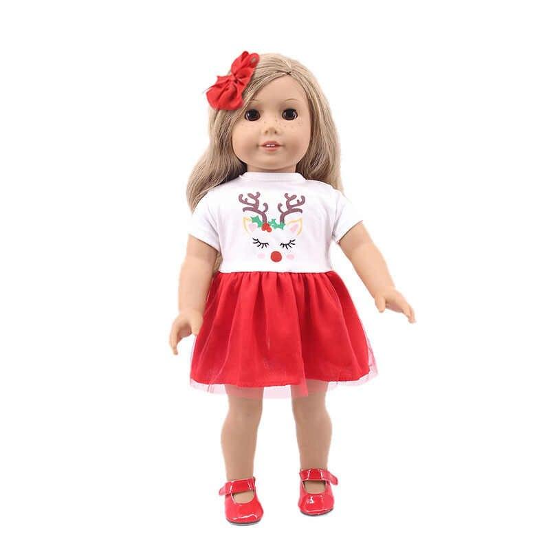 LUCKDOLL الحيوان نمط الزهور فستان صالح 18 بوصة الأمريكية 43 سنتيمتر ملابس دمى الطفل الملحقات ، GirlsToys ، جيل ، هدية الكريسماس