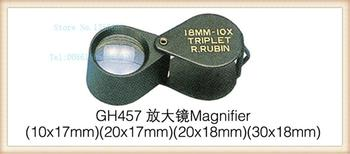 Free Shipping 2pc/lot 10X 18mm Magnifier, Magnifying Glass, Mngnifying Lens, Eye Loupe, craft jewelry tool s