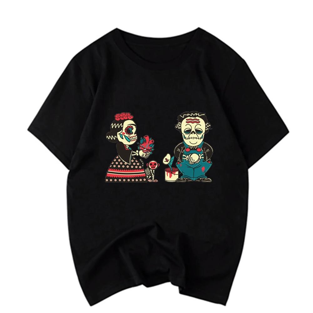 Men'S Short Sleeve O Neck T Shirts Frida Kahlo Printing Plus Size Tops Tees Brand Good Quality Comfortable Tee Tops