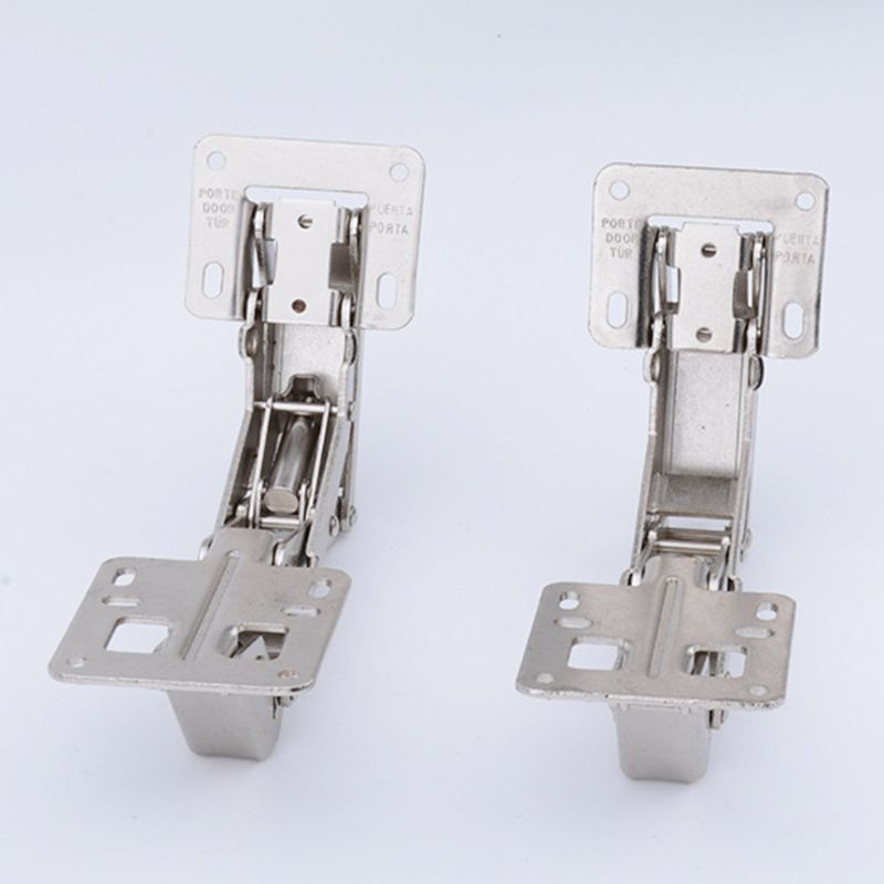 2Pcs 170 Degree Hydraulic/Normal Hinges Cold-rolled Steel Soft-close Buffer With 20Pcs Screw Cupboard Cabinet Door Accessories