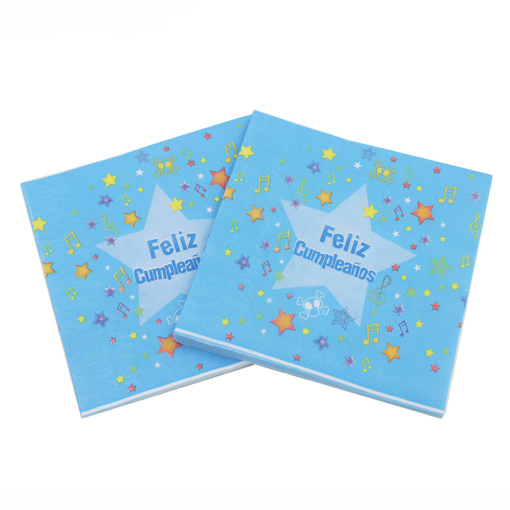 [Currently Available] Color Printed Napkin Feliz Creative Tissue Kleenex RUQT-57