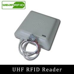 UHF قارئ بطاقة رفيد 5 متر طويلة المدى مع 8dbi هوائي RS232/RS485/Wiegand العلامة ناسخة التشفير التكاملي UHF القارئ