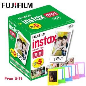 Image 1 - Fujifilm Instax papel fotográfico para cámara instantánea Polaroid FUJI Instax Mini LiPlay 11 9 8 7s 70 90, 3 pulgadas, borde blanco