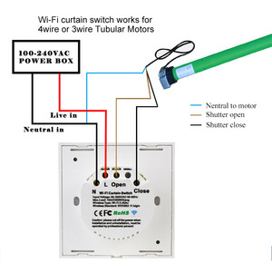 Image 3 - スマートホーム無線 lan 電気タッチブラインドカーテンスイッチ ewelink アプリ alexa による音声制御エコー機械制限ブラインドモーター