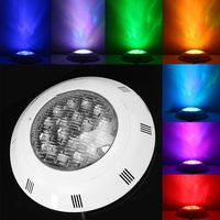 EASY-7 Colors 24V 18W LED RGB Underwater Swimming Pool Bright Light /Remote Control
