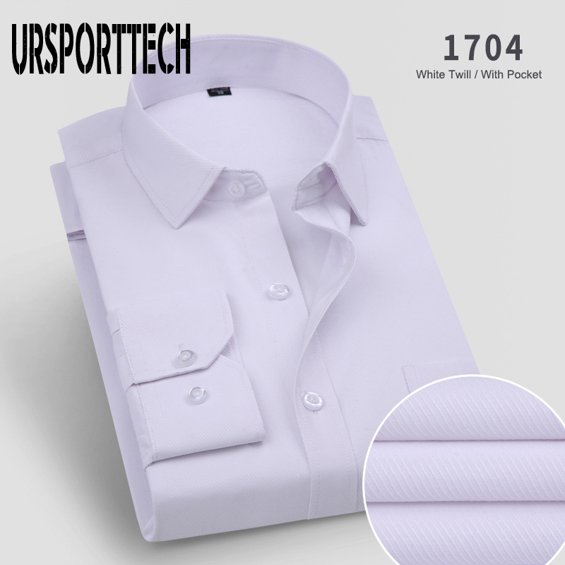 Fashion Men Long Sleeve Shirt Slim Fit New Brand Solid Color Business Office Formal Men Dress Shirt Plus Size Male Shirt Chemise