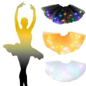 Tutu-Skirt Tulle Magic-Light Ballet Fluffy Princess Dancewear for Party Glitter Sequin