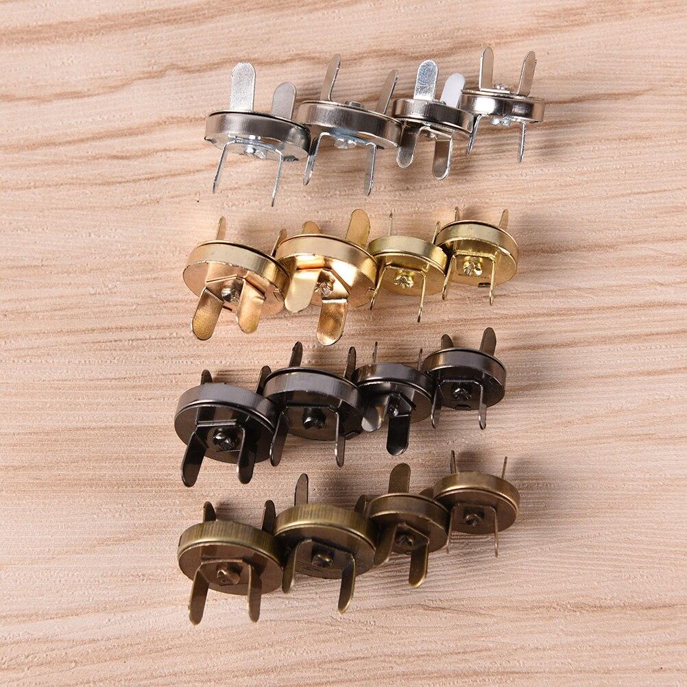 10pcs/lot Bag Button High Quality 18mm/14mm Magnetic Snap DIY Handbag Purse Clasp Closures Metal Button Bag Accessories Parts