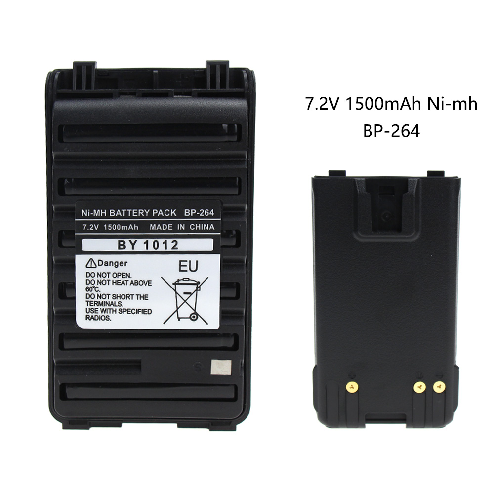 BP-264 7.2V 1500mAh NI-MH Battery For Icom T70 V80 F3001 F4001 F3101 F4101 F3210 F4210 F4210D F3210D F3101D F4101D Radio
