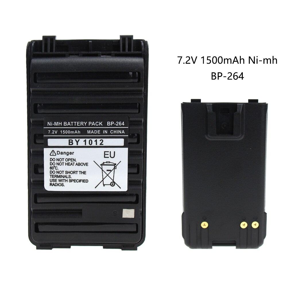 BP-264 7.2V 1500mAh NI-MH Battery For Icom T70 V80 F3001 F4001 F3101 F4101 F3210 F4210 F4210D F3210D F3101D F4101D Radio