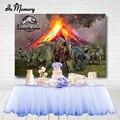 В памяти извержение вулкана с динозавром «Мир Юрского периода» вечерние фон с днем рождения детей вечерние Photgraphy фоны изготовленные на зак...