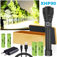 xhp90 most powerful led flashlight xhp70 xhp50 torch usb 18650 26650 Battery rechargable hand lamp waterproof zoom camping light