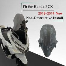 Parabrisas de motocicleta modificado PCX, tablero deflector de viento para Honda pcx 125 PCX125 150 2018 2019