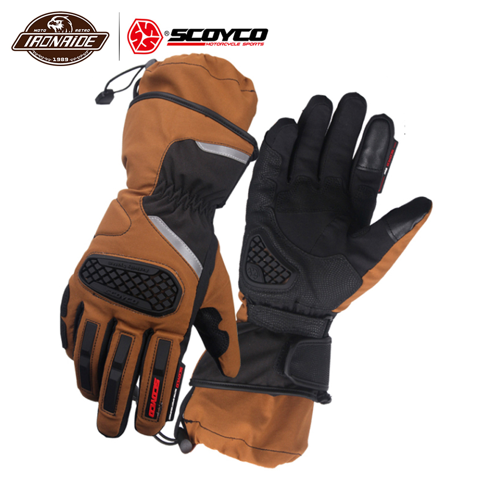 SCOYCO Waterproof Motorcycle Gloves Men Guantes Moto Moto Gloves Windproof Gant Moto Touch Screen Motorbike Riding Gloves Winter