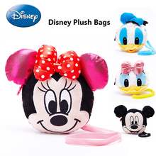 Disney Mini Crossbody Bags Girl Shoulder Bag Plush Mickey Mouse Kid Cartoon Bag Small Change Coin Purse Children Messenger Bag