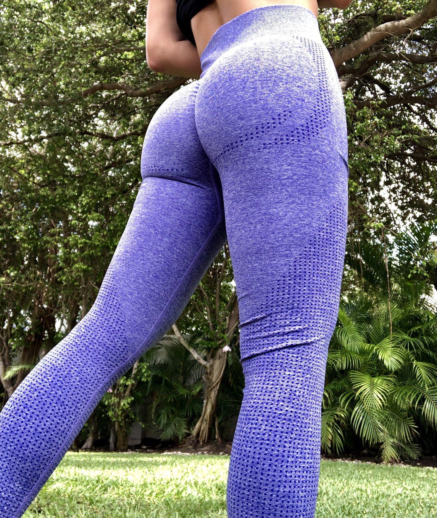Sólido cintura alta energia sem costura yoga