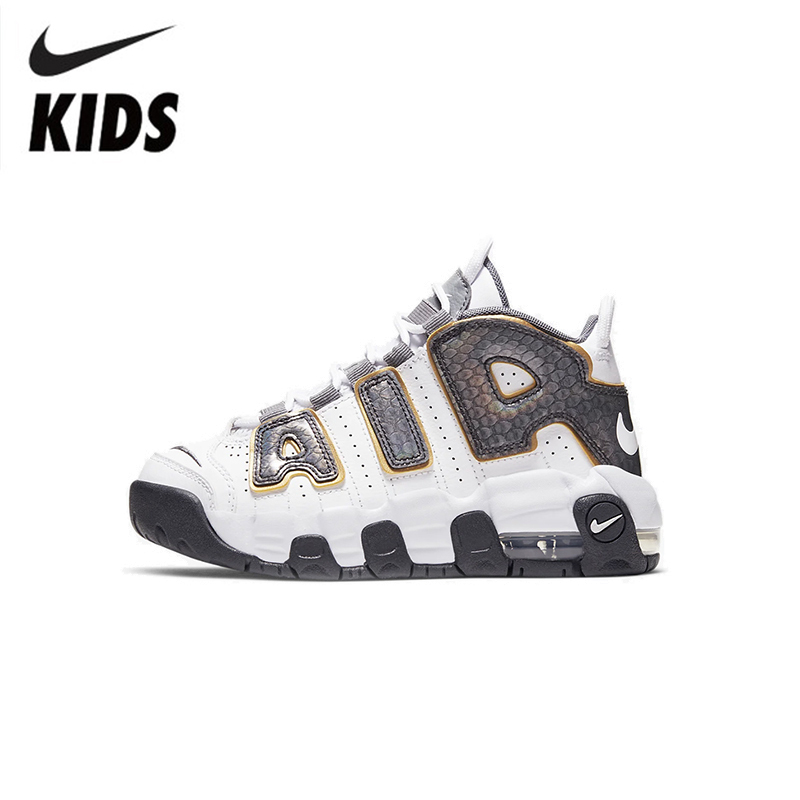 Nike Air More Uptempo Air Air Cushion Serpentine Children Basketball Shoes Cq4581-100