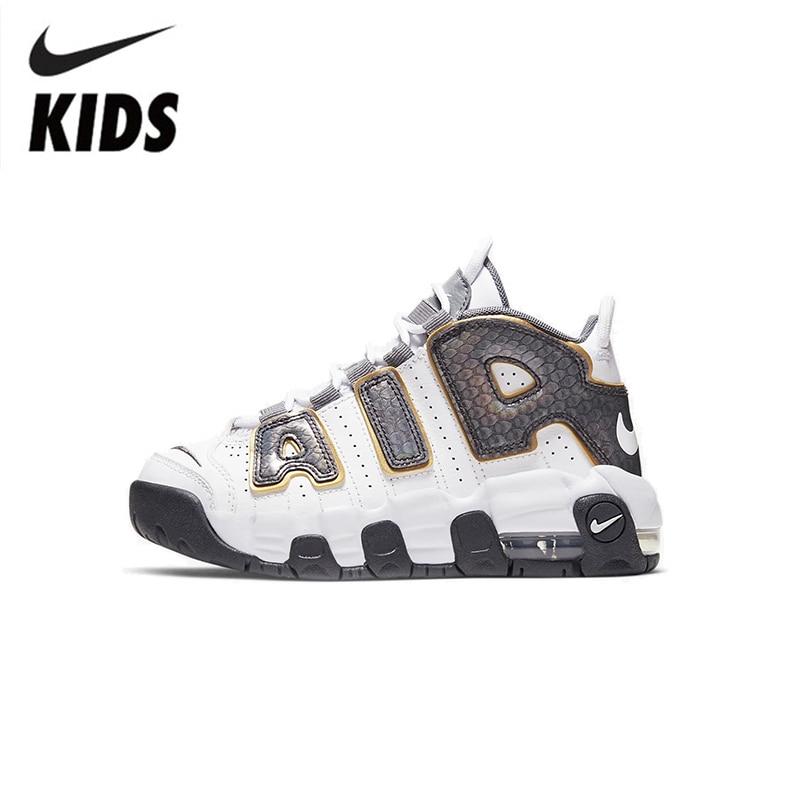 Nike Air More Uptempo Air Air Cushion Serpentine Children Basketball Shoes Cq4581-100