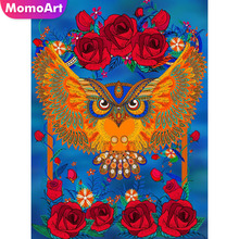MomoArt Diamond Painting owl Mosaic cartoon Embroidery Full Square/round Cross Stitch weeding decoration