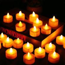 12Pcs Batterie Betrieben LED T Lichter Kerzen Flammenlose Jten Decor