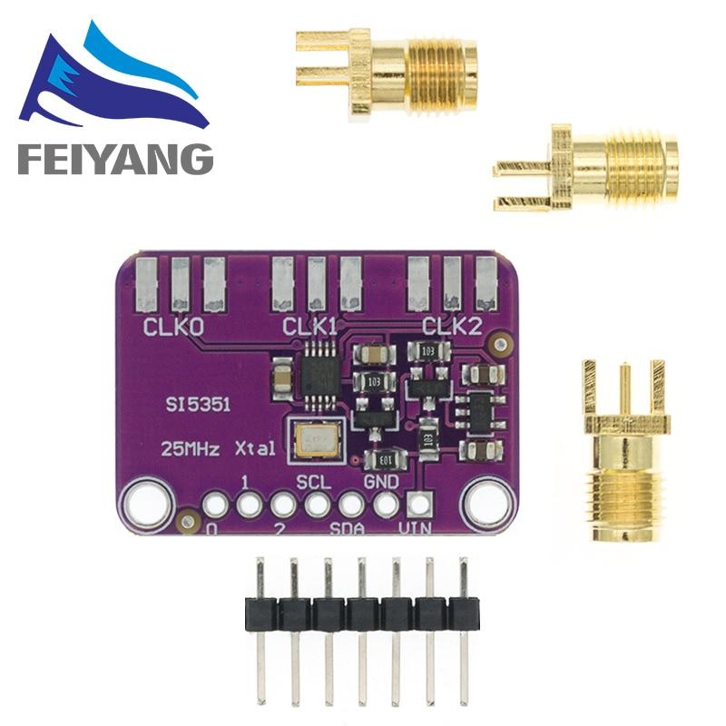 Плата прерывателя генератора часов Si5351A Si5351 I2C, 3-5 в постоянного тока, 1 шт., модуль, генератор сигналов, часы 8-160 МГц для Arduino