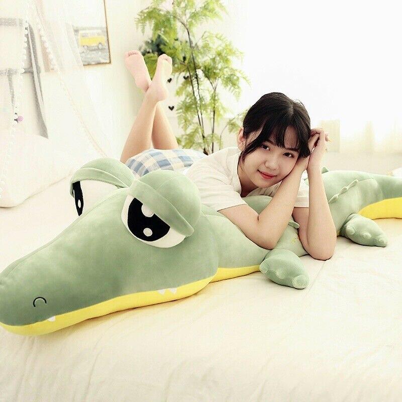 140 см/55 милая мягкая ящерица крокодил плюшевая игрушка большие глаза подушка комфорт кукла подарок хлопок подарок день рождения награда подкладка