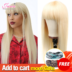 613 Color Brazilian Straight Human Hair Wig Blonde Wigs For Women Machine Made Wig Remy Pre Plucked Blonde Straight perruque