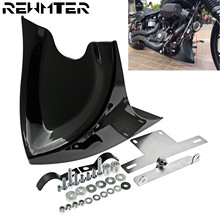 Black Chin Lower Front Spoiler Air Dam Fairing Cover For Harley Sportster 48 883 1200 2004-2018 Touring Softail Dyna Fatboy matte black motorcycle lower fairing front belly pan spoiler for harley davidson sportster 883 xl1200 2004 2014 models