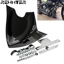 Schwarz Kinn Lower Front Spoiler Air Dam Verkleidung Abdeckung Für Harley Sportster 48 883 1200 2004 2018 Touring Softail dyna Fatboy