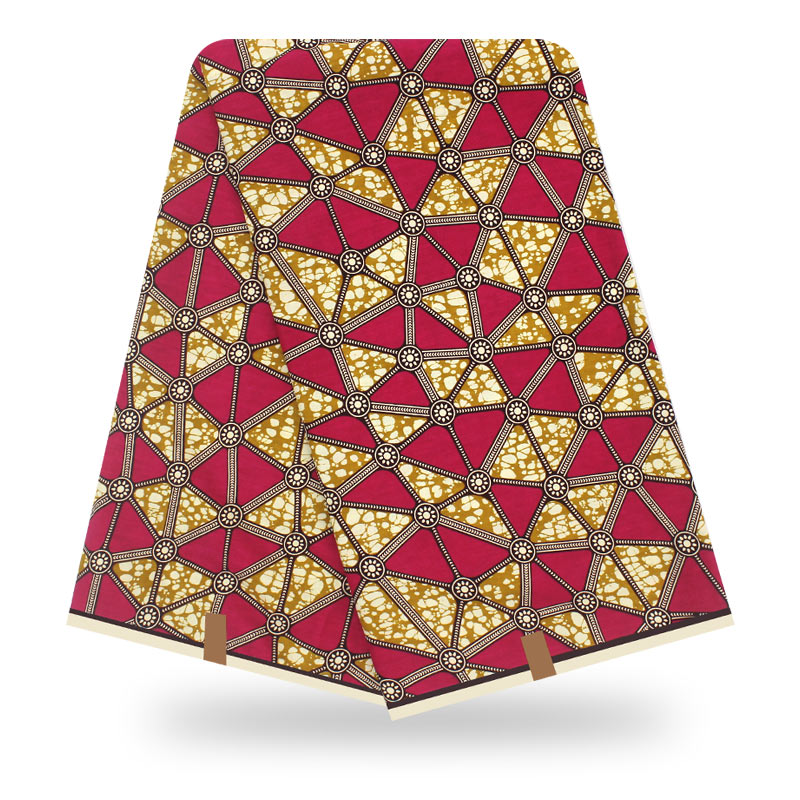 Ankara Fabric African Real Wax Print 100% Cotton 6yard/lot African Fabric Wax High Quality Tissus Real  Wax Cotton