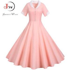 Элегантное однотонное Розовое женское летнее платье, 2020, повседневное, с коротким рукавом, шикарное, Стройное, модное, миди, вечерние, сарафа...