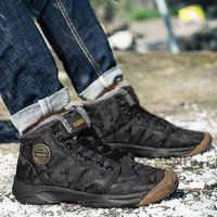 Zapatos de senderismo de invierno para hombre, Botas de tobillo al aire libre, botas de invierno para mantener el calor, zapatillas de deporte para invierno
