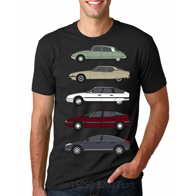 T Shirt Men Funny tshirt Citroen Haute de Gamme Classic Car Collection Vr 2 Graphic men T-Shirt