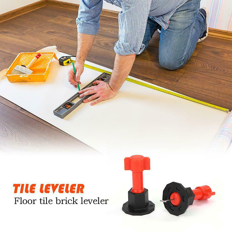 75 Pcs Reusable Anti-Lippage Tile Leveling System Locator Tool Ceramic Floor Wall OCT998