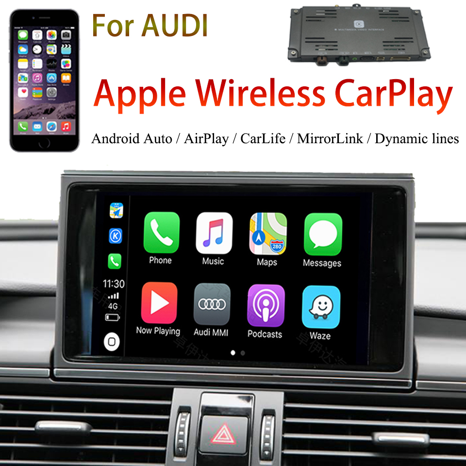 2020 New Car Apple Airplay Android Auto Wireless CarPlay Video Interface Box for AUDI A3 A4 A5 A6 Q7 A8 O.E.M Screen MMI System image