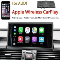 MMI 3G With OEM Monitor Wireless CarPlay Solution For Audi A6 Support Android Auto Phone Mirror Rear View Camera Video Interface