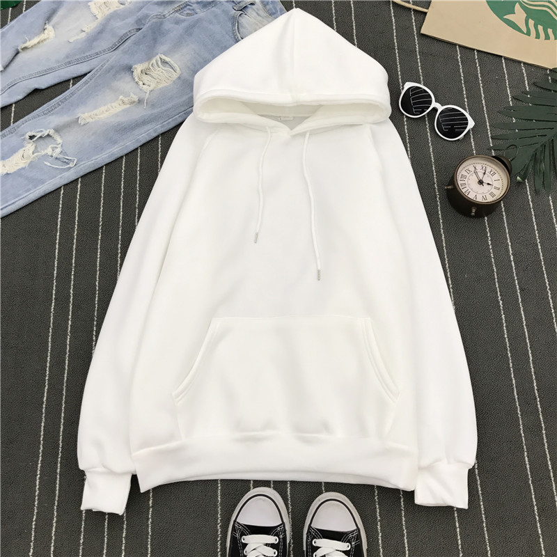 H723e595683a246dfad08f216054c552b0 - Autumn winter Harajuku Solid Sweatshirt Women Long Sleeve Hoodie Loose Women Hoodies Sweatshirts Casual Tracksuit