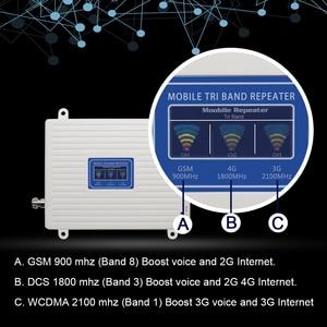 Image 2 - 2G 3G 4G Tri Band Booster Amplifier GSM 900 4G LTE 1800 B3 3G WCDMA 2100 B1 โทรศัพท์มือถือสัญญาณRepeater
