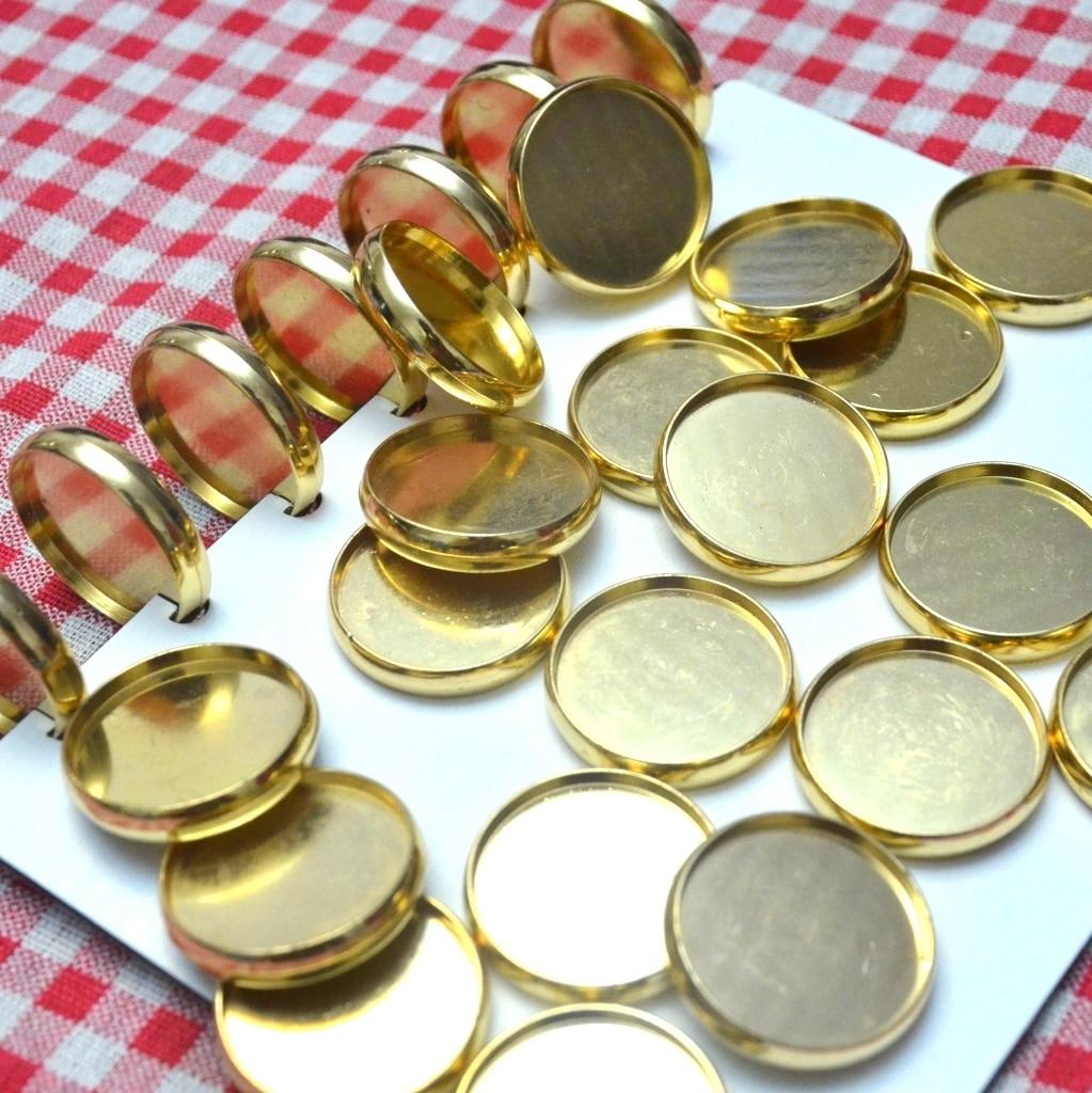 30pcs 35mm Disc Binding A4 Binder Ring For Notebook Paper Ring Planner Ring Binder Mushroom Hole Binder Gold Binding Discs