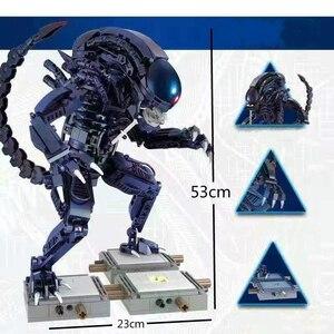 Novo 603 pçs série de filmes alienígenas blocos de construção predator vs alien tijolos figura ação modelo brinquedos presente