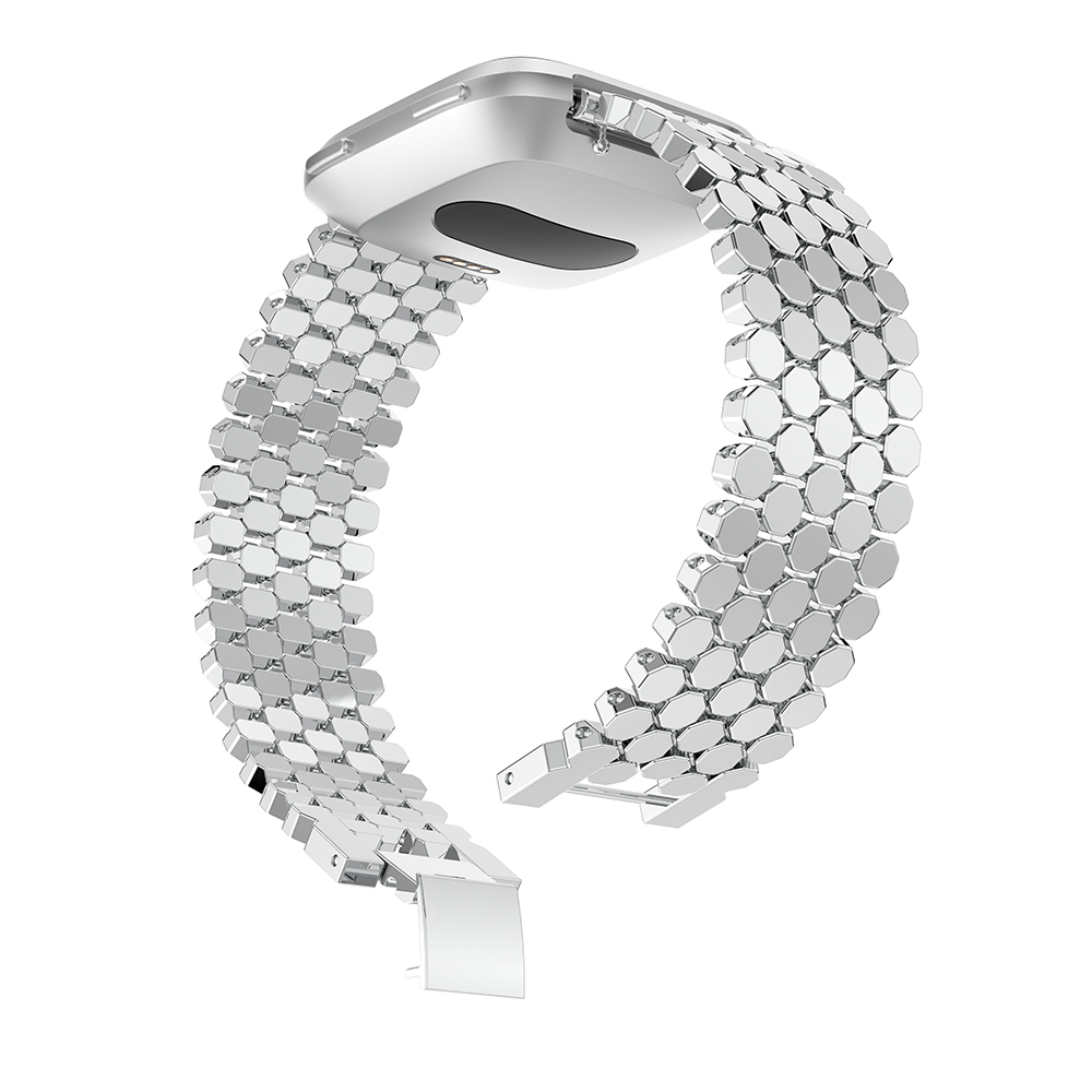 Yayuu Metal High end universal Smart Band Alloy Fish scale jewelry buckle Bracelet Watch Strap wristband Replacement watchbands in Smart Accessories from Consumer Electronics