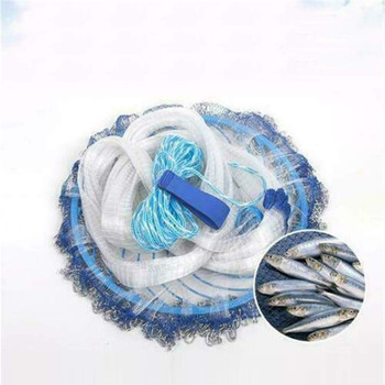 Fishing Net Nylon Monofilament American Style Cast Net Hand Throw Bait Trap for Easy Fishing Nylon Fishing Net