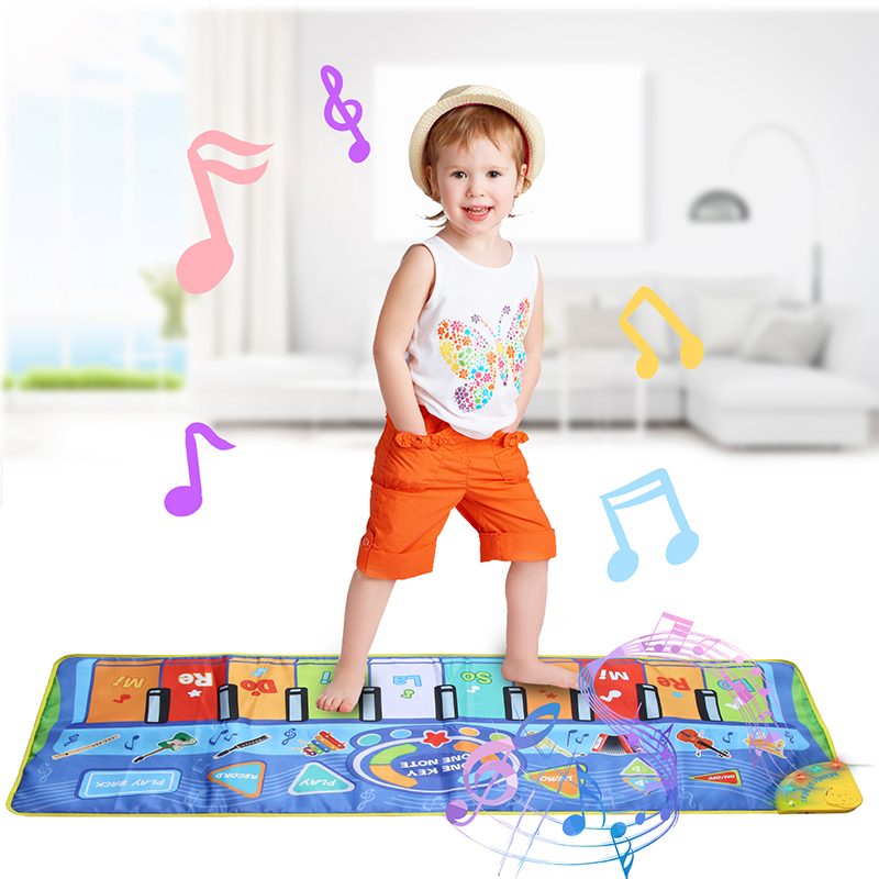 130X48CM Baby Piano Mats Music Carpets Piano Keyboard Touch Play Game Musical Carpet Mat Educational Toys Gift