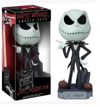 Figura de Jack de pesadilla antes de Navidad, juguete de colección de figuras de acción de PVC de Jack skeleton/Freddy Krueger Bobble Head Doll