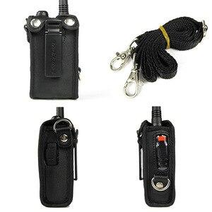 Image 4 - 2 قطعة CB راديو لينة حقيبة جلدية الحقيبة اكسسوارات ل BAOFENG اسلكية تخاطب UV 5R UV 5RE زائد UV 5RA زائد UV 5RB TYT TH F8