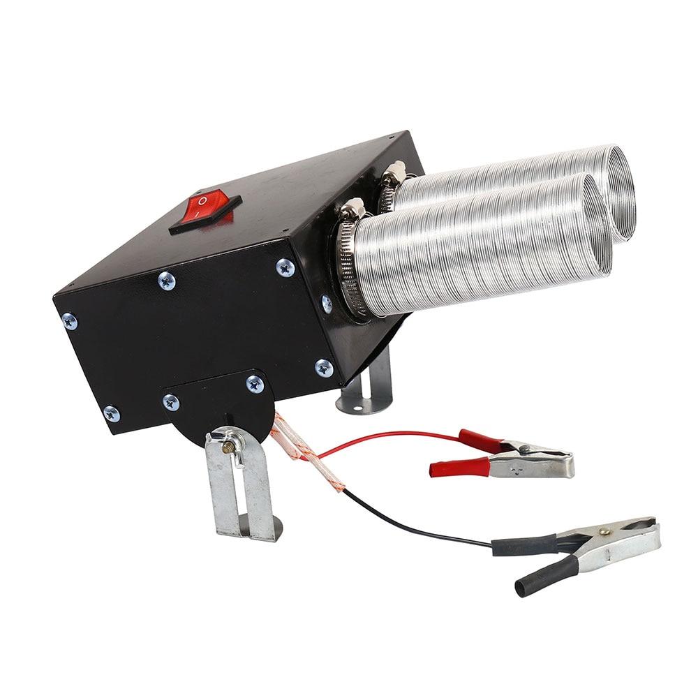 Автомобильный нагреватель воздуха для лобового стекла влагоуловитель стекол 12V 600 Вт высокой мощности Мощность Автомобильная сушилка 2 отверстия Электрический вентилятор нагреватель быстрый нагрев размораживания