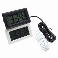 Mini termómetro Digital LCD higrómetro probador del congelador Detector medidor de humedad y temperatura