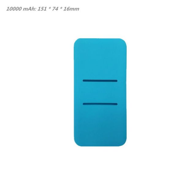 Silicone Protector Case Cover Skin Sleeve Bag for New Xiao Mi 2 10000/20000mAh Dual USB Power Bank Powerbank Accessory 4