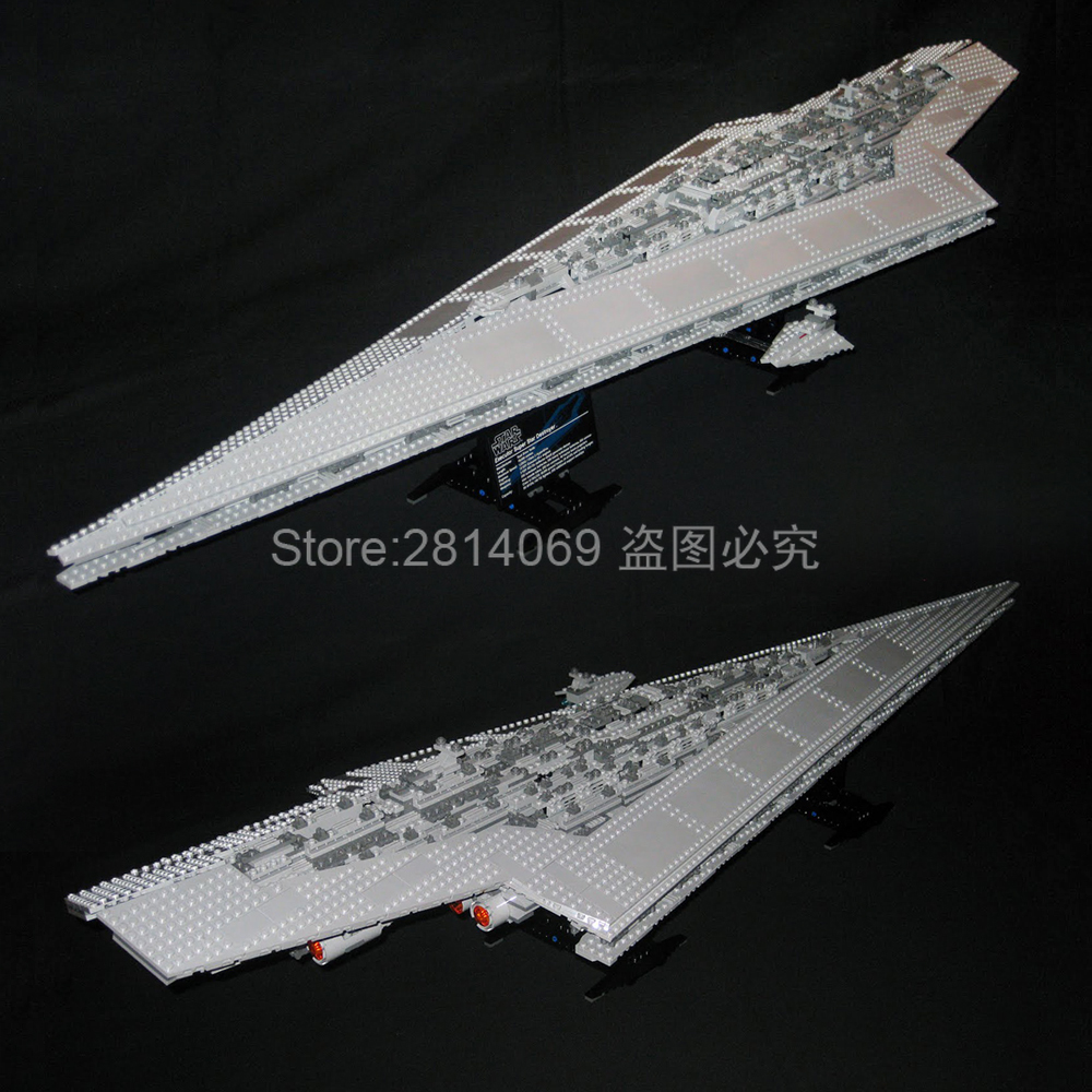 05028 Star Wars Emperor Fighters Ship Execytor Super Star Destroyer 3208pcs Building Block Toys Compatible 10021